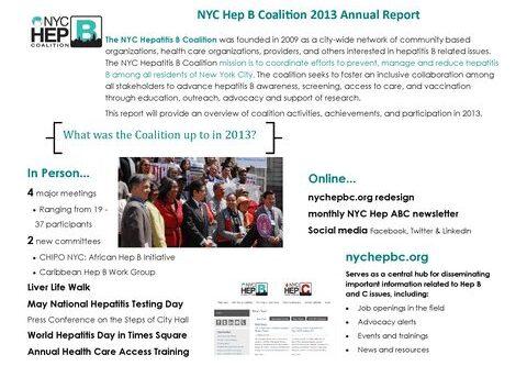 2013 Hep B Coalition Annual Report