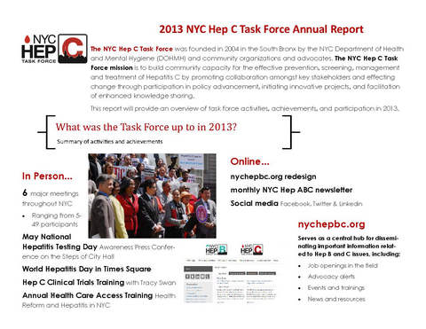 2013 NYC Hep C Task Force Annual Report