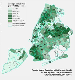 Maps Hep B And Hep C In Nyc By Nyc Council District 2014 2015