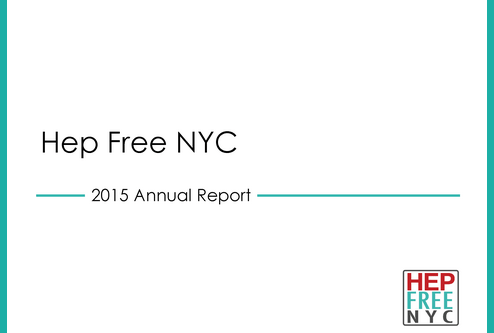 Hep Free NYC 2015 Annual Report